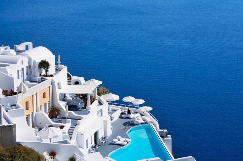beautiful Katikies Hotel in Oia Santorini Greece location summer getaway travel