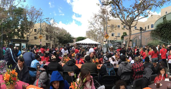 Thanksgiving at the LA Mission.