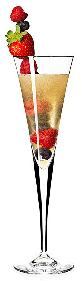 Fruit Berry Champagne Cocktails