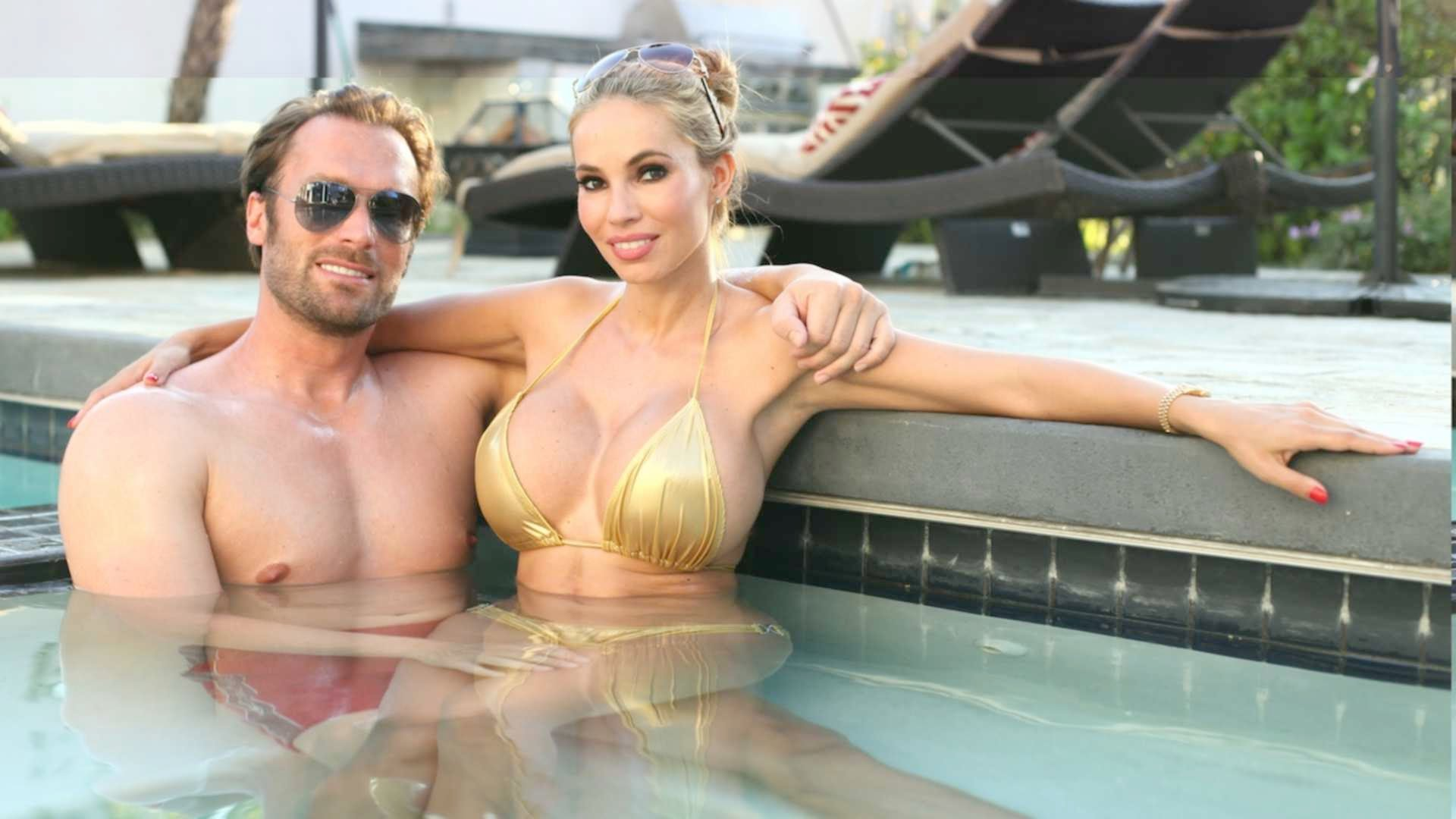 Bling Germany Couple Bastian Maria Yotta Instagram decadent Playboy mansion lifestyle pool parties super cars shopping Beverly Hills lifestyle Multi-millionaire flashy Ferrari large breasts
