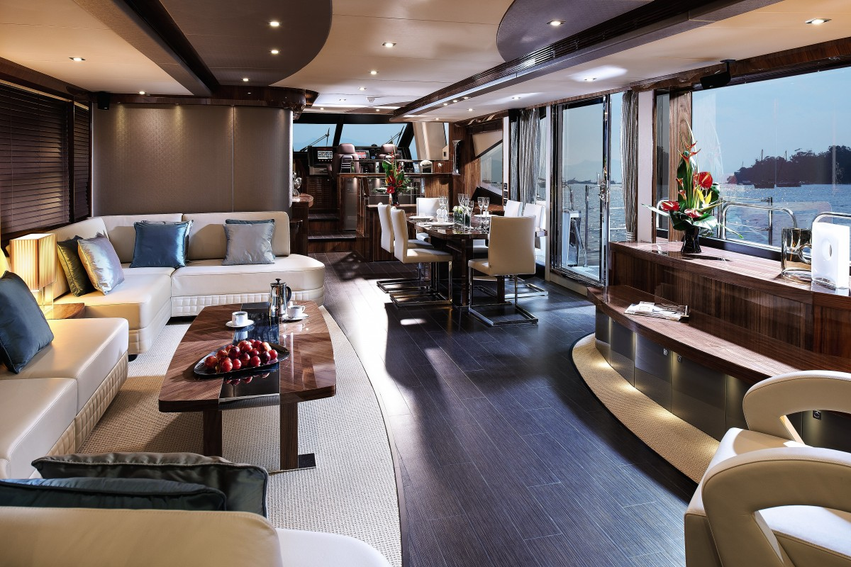Sunseeker 28 Metre Yacht At The Southampton Boat Show