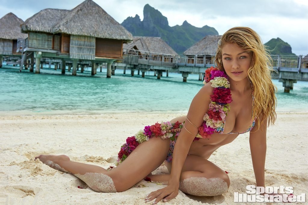 Gigi Hadid sports illustrated Swimsuit Edition bikini swimsuit naked nude breast legs ass blonde eyes sexy beauitful beach water wet sun white sensual (13)