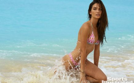 Lily Aldridge swimsuit sports illustrated cover hot bikini beach water thong sexy ass bodypaint (10)